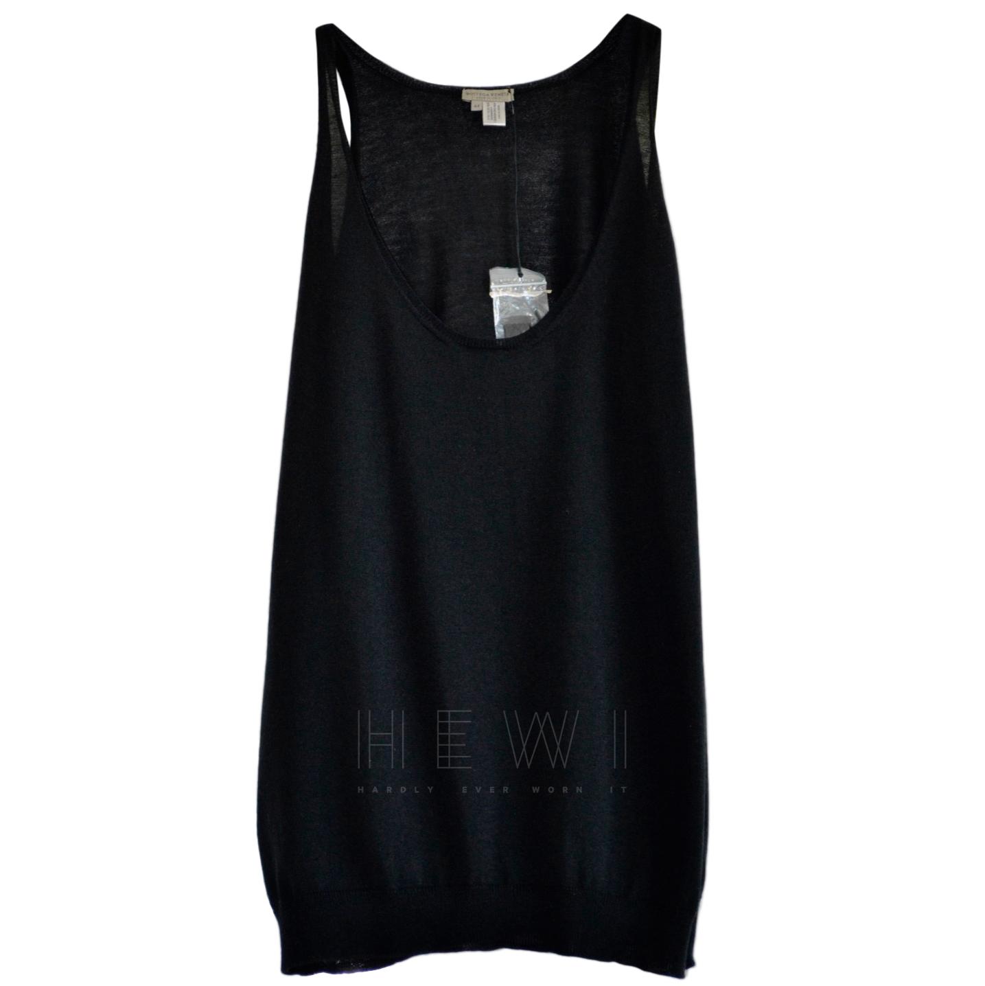 Bottega Veneta black sleeveless cashmere sweater