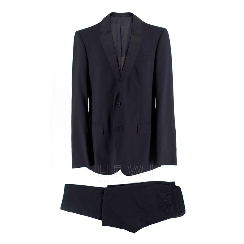 Boss Hugo Boss Virgin Wool Navy Birds Eye Blue Suit