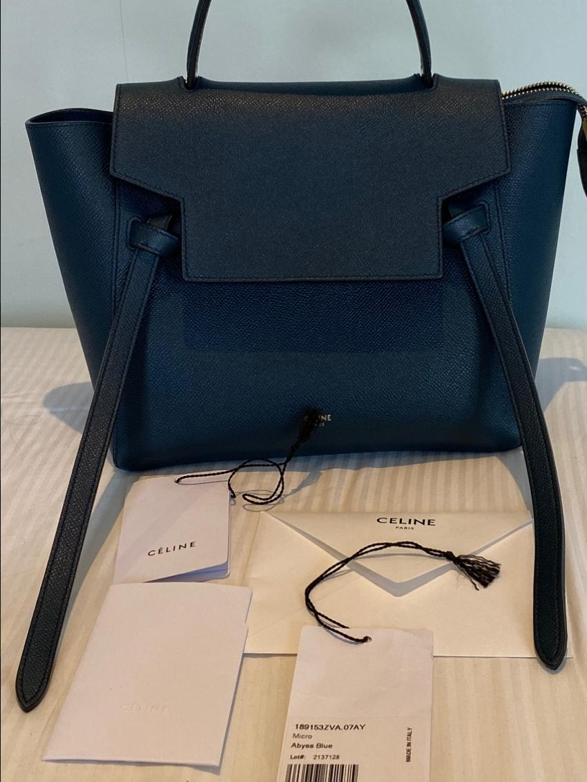 Celine Abyss Blue Micro Belt Bag Hewi
