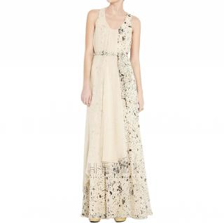 Pillip Lim Asymmetric Tie-Waist Maxi Dress
