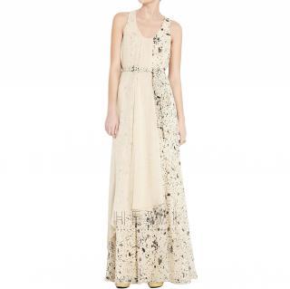 Pillip Lim Asymmetric Tie-Waist Maxi Dress
