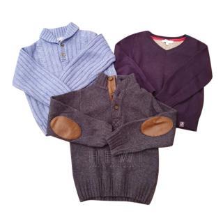 Jacadi Boy's 2A Set of 3 Sweaters