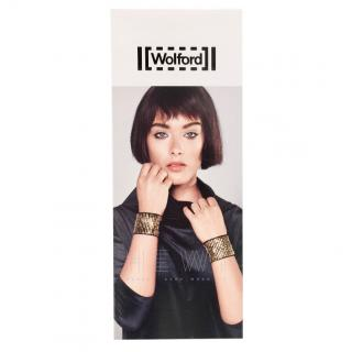 Wolford Limited Edition Gold Stretch Bracelet Cuffs
