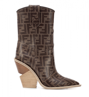 Fendi FF Logo Cowboy Boots - New Season