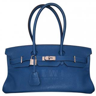 Hermes Bleu Mykonos Togo Leather JPG Shoulder Birkin II