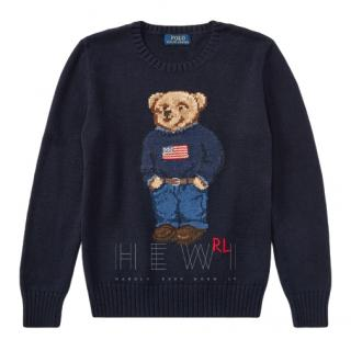 Ralph Lauren Polo Boy's 2-3 Years Teddy Bear Jumper