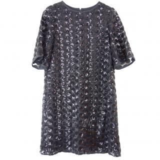 Kate Spade Black Sequin Embellished Dress