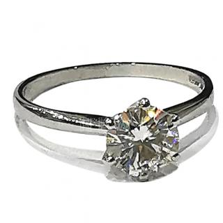 Charles Colvard 18ct Gold Moissanite Soliatire Ring