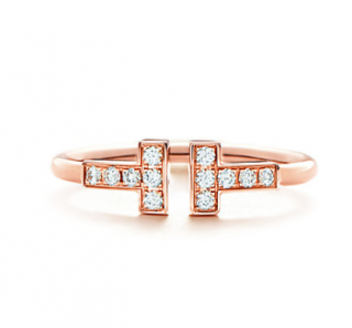 Tiffany & Co. Tiffany T 0.13ct Diamond Wire Ring in Rose Gold