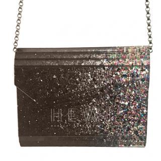 Jimmy Choo Candy glitter acrylic clutch bag