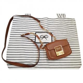 Anya Hindmarch Tan Mini Crossbody Bag