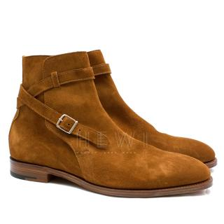 John Lobb Abbott Suede Jodhpur Boots