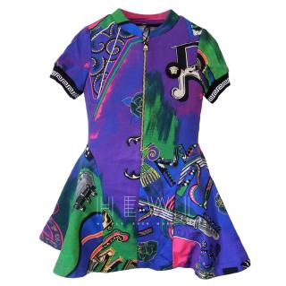 Versace Girl's Printed Skater Dress
