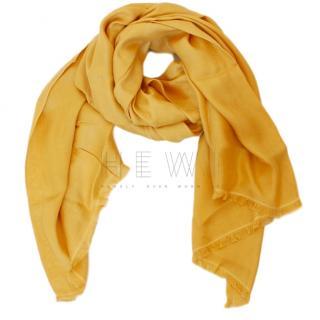 Max Mara Yellow Silk Shawl