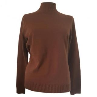 Max Mara Brown Roll Neck Jumper