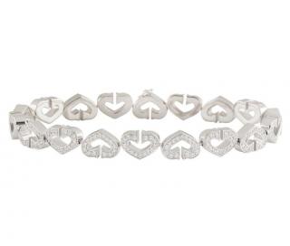 Cartier Diamond Open-Work Heart Bracelet