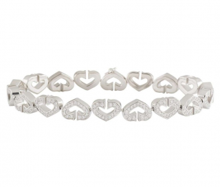 Cartier Diamond Open-Work Heart Bracelet