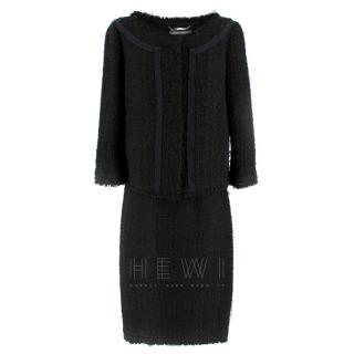 Alberta Ferretti Black Tweed Jacket & Skirt