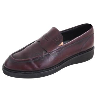 Tod's Mens Burgundy Penny Loafers