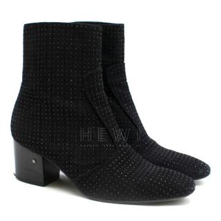 Laurence Dacade black studded suede ankle boots