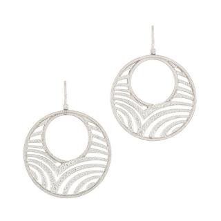 Garrard Diamond Encrusted Oval Drop Earrings