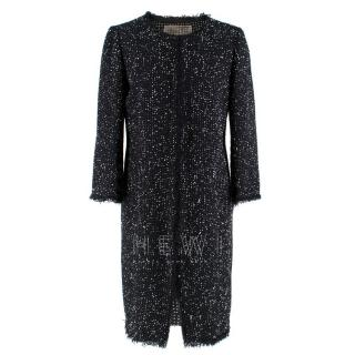 Giambattista Valli Black Boucle Tweed Coat