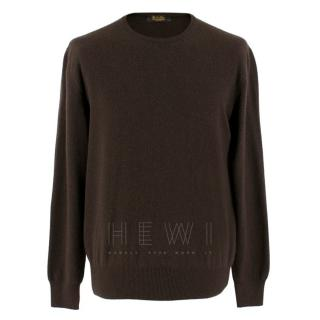 Loro Piana Girocollo Brown Baby Cashmere Jumper