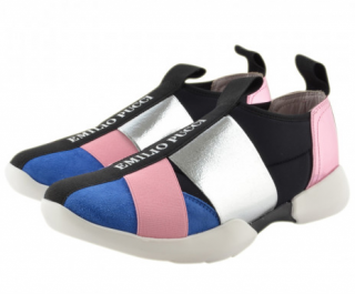 Emilio Pucci girl's neoprene slip on trainers