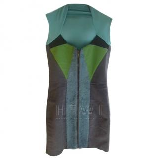Marios Schwab Faux Fur Zip Dress