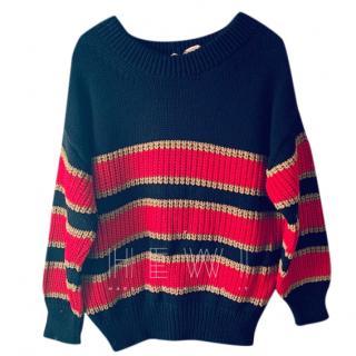 No. 21 Chunky Knit Striped Sweater