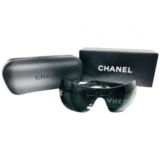 Chanel Black 4157Q Aviator Sunglasses