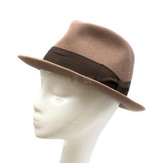Juretic Maria Gorizia Brown Rabbit Felt Fedora Hat