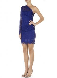 Emilio Pucci Lace One Sleeve Mini Dress