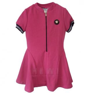 Young Versace Pink Zip-Front Dress