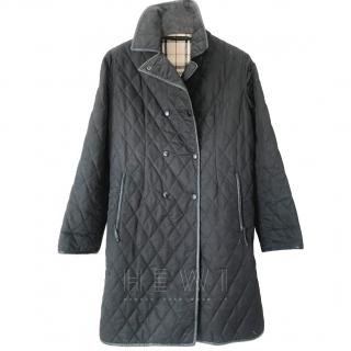 Burberry Black Quilted Trench Coat