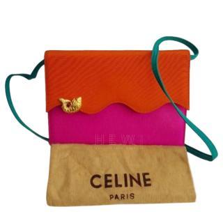 Celine Multi-Coloured Scalloped Crossbody Bag