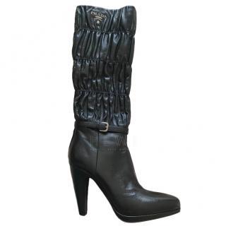 Prada Stretch Matelasse Leather Boots