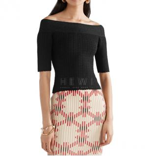 Altuzarra Barnehurst off-the-shoulder pointelle-knit top
