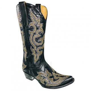 Old Gringo Studded Black Cowboy Boots