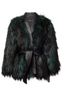 Balmain x H&M Faux Fur Belted Coat