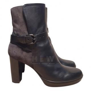 Tod's Suede & Leather Ankle Boots