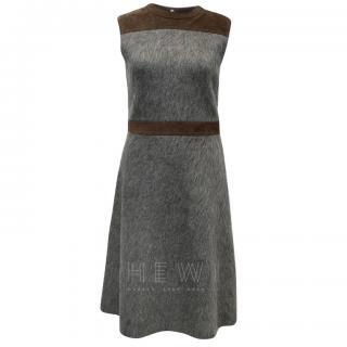 Louis Vuitton Mohair & Suede Sleeveless Dress