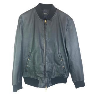 Paul Smith PS Leather Bomber Jacket