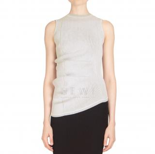 Rick Owens Ribbed Knit Top in White