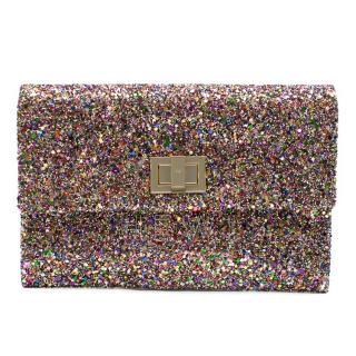 Anya Hindmarch Multi-Coloured Glitter Valorie Clutch