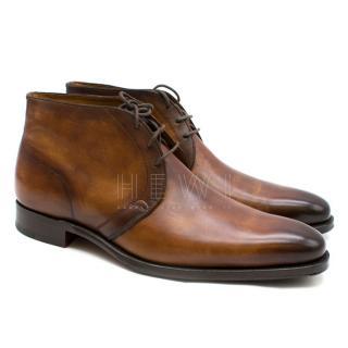 Altan Bottier Brown Leather Captoe Dress Boots