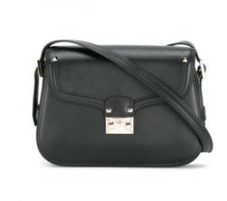 Valentino Black Leather Rockstud Shoulder Bag