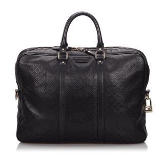 Gucci Black Monogram Diamante Briefcase