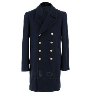 3.1 Phillip Lim Navy Wool Double Breasted Coat