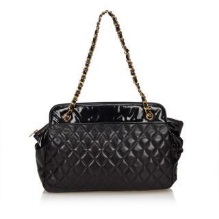 Chanel Matelasse Black Lambskin Chain Bag